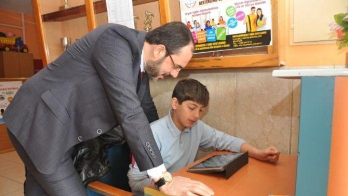 Başkan Ayaz Mehmet Süha Uçar Okulunu Ziyaret Etti