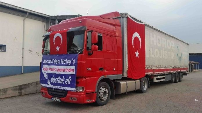 Kocaeli'den Giden Yardımlar Bayırbucak Türkmenlerine Ulaştı