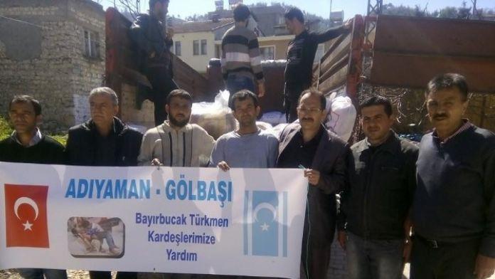 Gölbaşı İlçesinde Toplanan Yardımlar Türkmenlere Ulaştırıldı