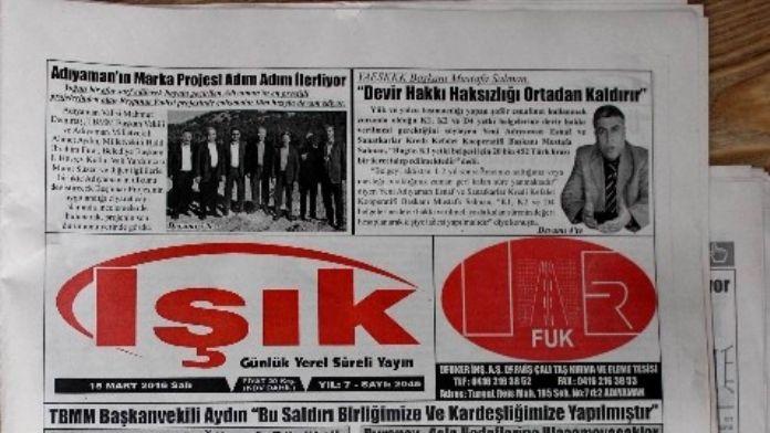 Adıyaman'da Yerel Gazeteler Birleşti