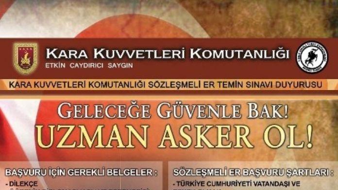 Sözleşmeli Er Temini Sınavı 25 Mart'ta Yapılacak