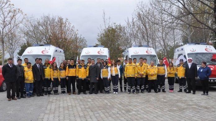 Karaman'da 4 Yeni Ambulans Hizmete Girdi