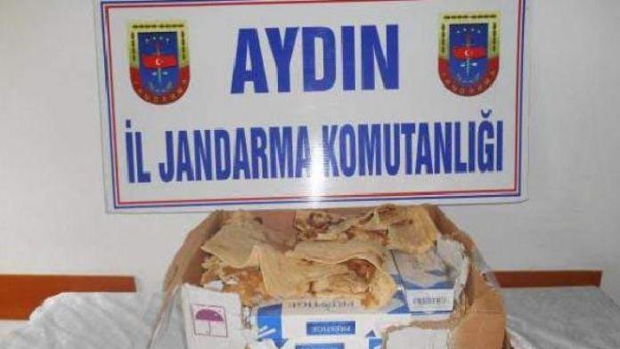 Aydın'da lavaş ekmek arasında kaçak sigara