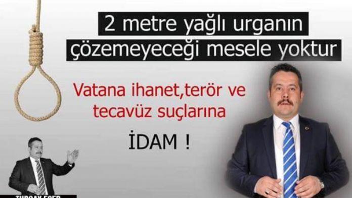AK Partili başkandan 'idam' paylaşımı