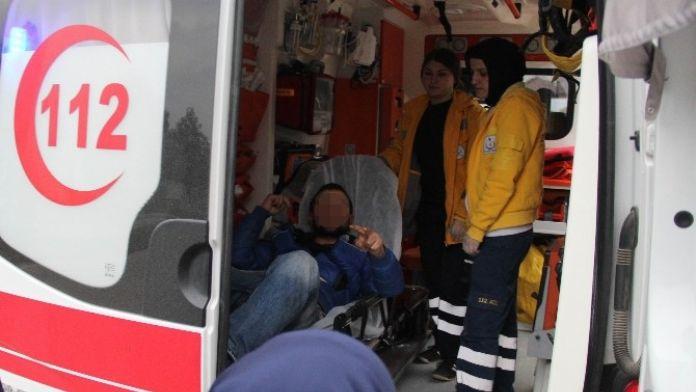 Hastaneden Kaçtı Yine Hastaneye Kaldırıldı