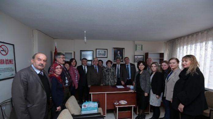 Vali Tuna Ve Mustafa Şahin'den Muhtarlara Ziyaret