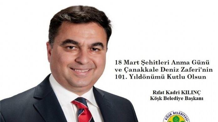 Başkan Kılınç, Çanakkale Zaferi Ve Şehitleri Unutmadı