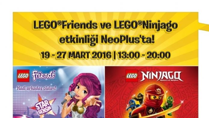 Lego Friends Pop Star Ve Lego Ninjago Etkinliği Neoplus'ta