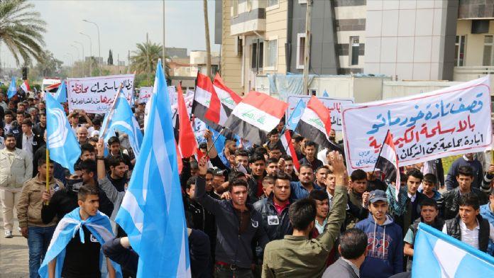 Iraklı Türkmenlerden DAEŞ karşıtı gösteri