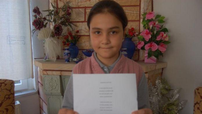 10 Yaşındaki Öğrenci Çanakkale Şehitlerine Şiir Yazdı
