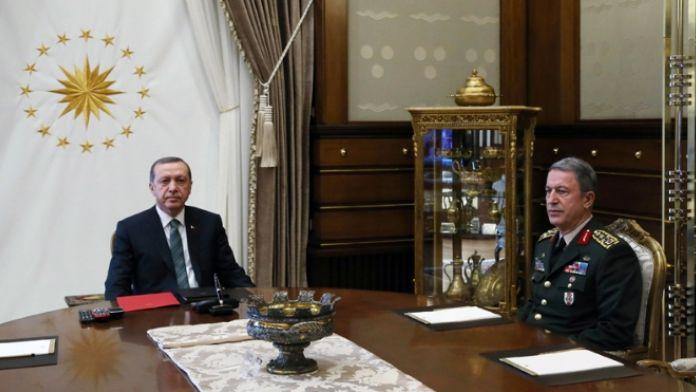 Cumhurbaşkanı Genelkurmay Başkanını kabul etti