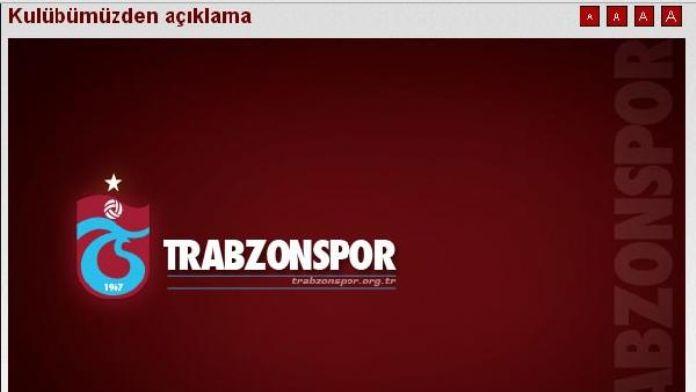 Trabzonspor'dan Deniz Ateş Bitnel açıklaması