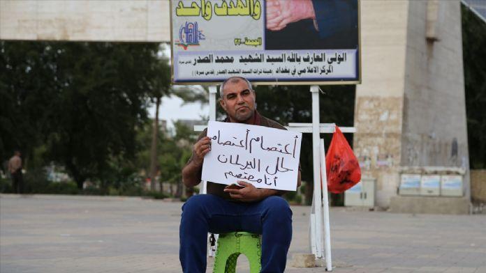 Bağdat'ta 7 aydır süren tek kişilik eylem