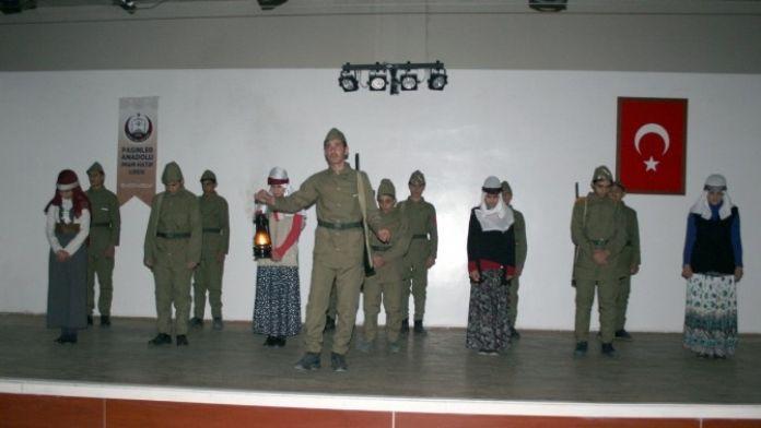 Pasinler'de 101. Yılında Çanakkale Şehitleri Rahmetle Anıldı