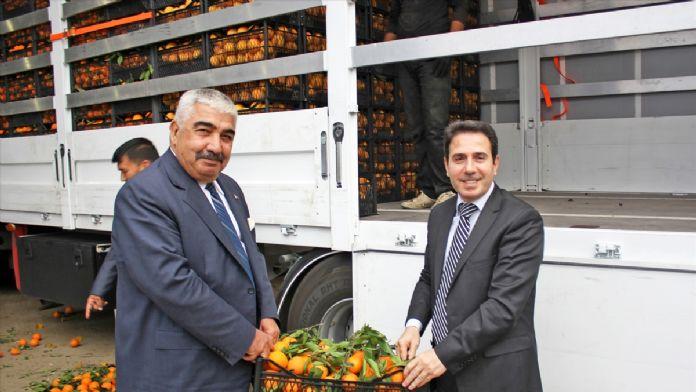 Kozan'dan Şırnak'taki güvenlik güçlerine 26,5 ton meyve