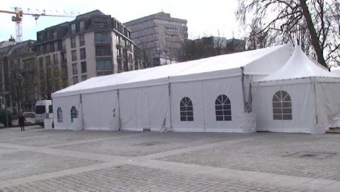 Brüksel'de AB Konseyi binasının arkasına kurulan PKK çadırı boşaltıldı