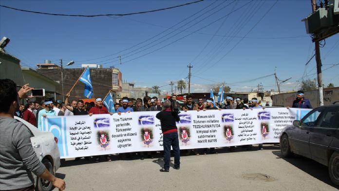 Türkmenlerden DAEŞ karşıtı gösteri