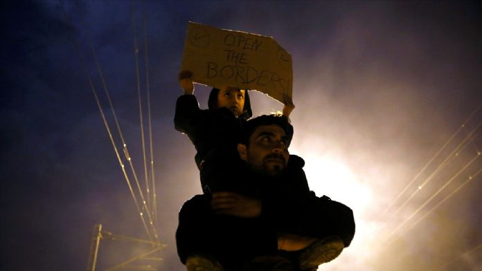 AB-Türkiye anlaşmasına İdomeni'de protesto