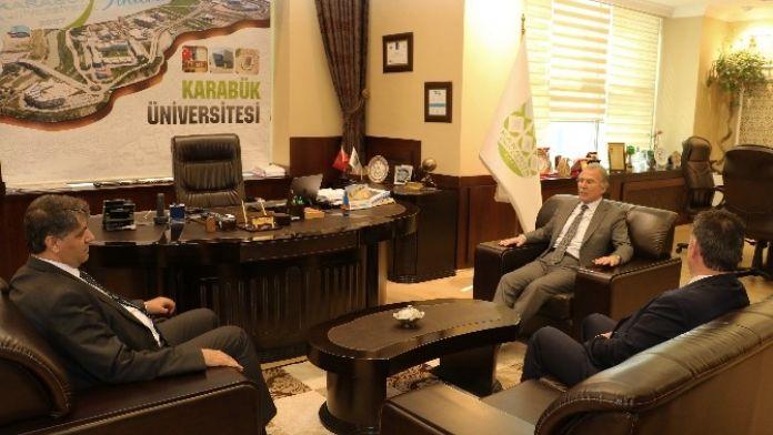 Şahin'den Rektör Polat'a Ziyaret