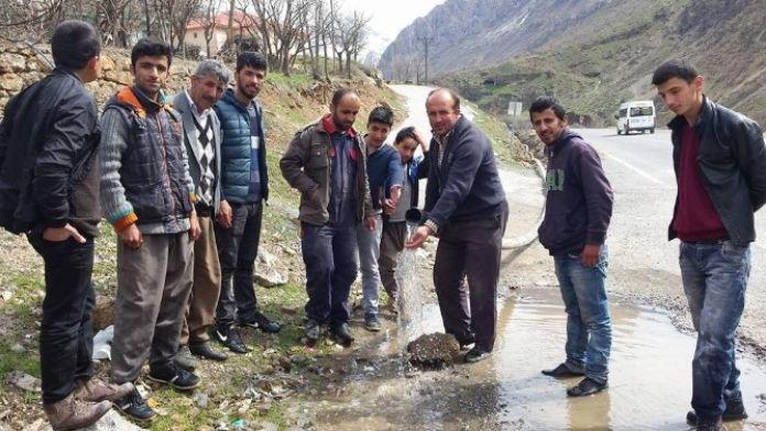 Çimenli Köyü Yeni Su Şebekesine Kavuştu