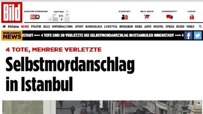 İstanbul İstiklal Caddesi'ndeki patlama Alman basınında