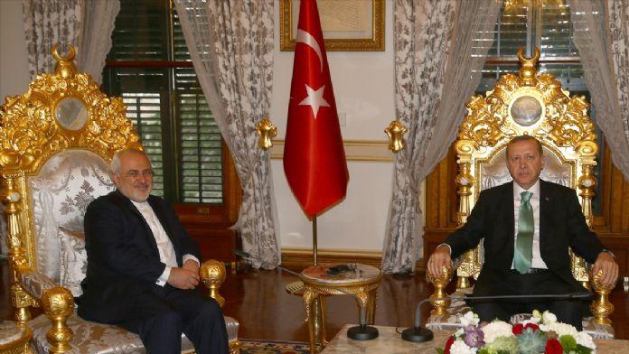 Cumhurbaşkanı Erdoğan İran Dışişleri Zarif'i kabul etti