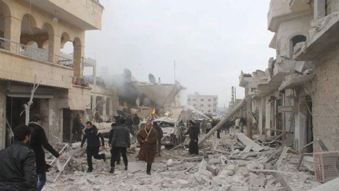 Suriye'de hava saldırısı: 39 ölü