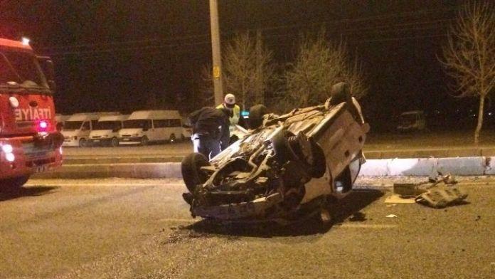 Alkollü Sürücü, Otomobiliyle Takla Attı