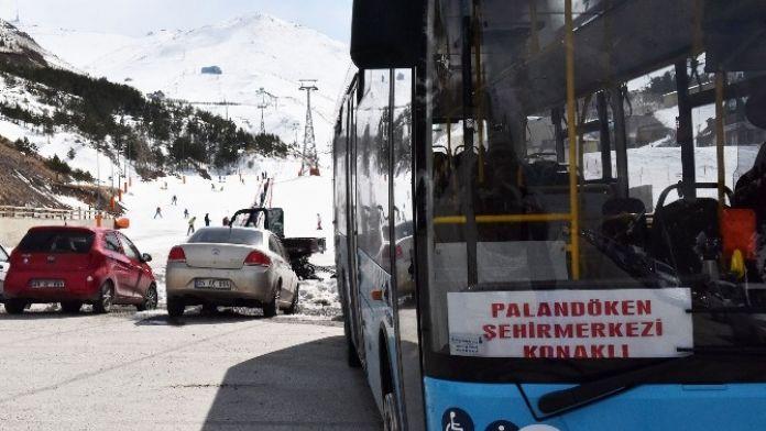 Palandöken Ve Konaklı'ya Belediye Otobüs Seferleri Başladı