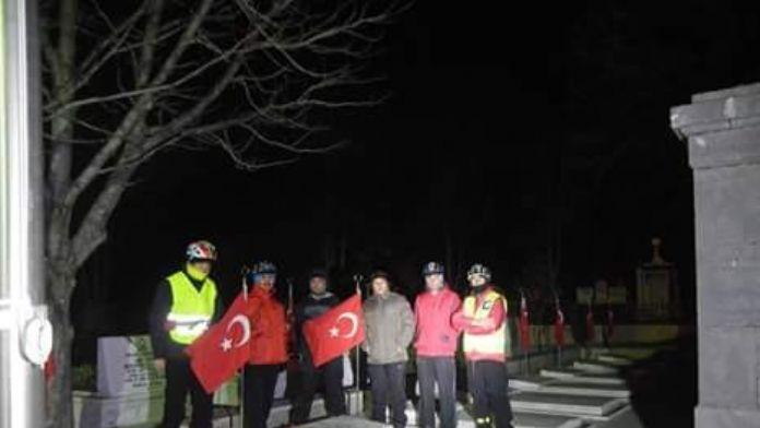 Afyon Pab Üyeleri Şehitlikleri Ziyaret Etti