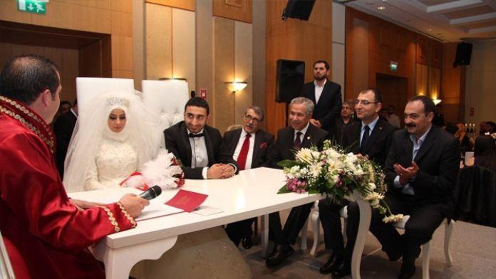 Bülent Arınç ve Abdülkadir Aksu'yu buluşturan nikah