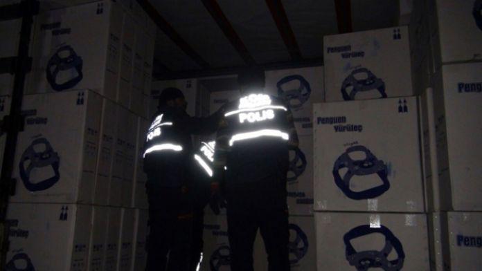 85 bin paket kaçak sigara ele geçirildi
