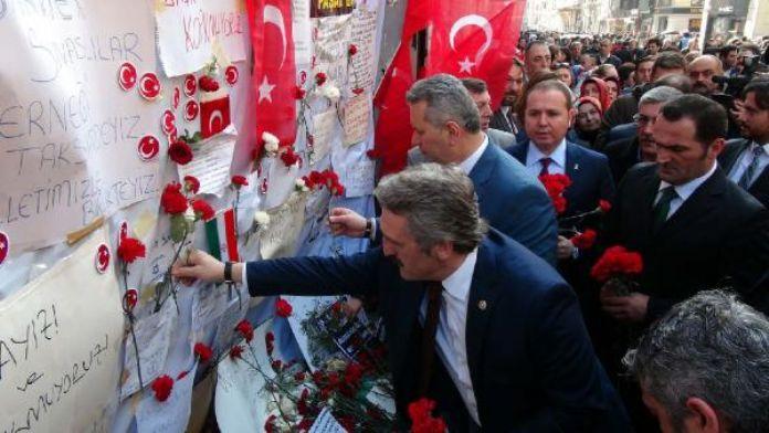 AK Parti milletvekilleri patlama yerini ziyaret etti