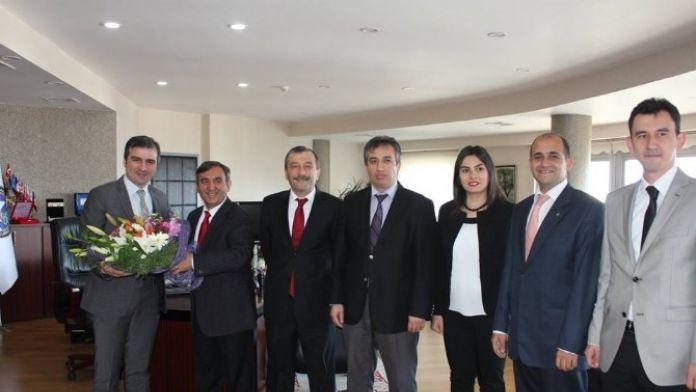 Orman İşletme Müdürü Ve Ekibi Başkan Yemeniciyi Ziyaret Etti
