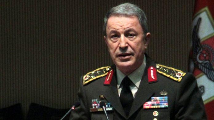 Genelkurmay Başkanı Akar'dan şehitler için taziye mesajı