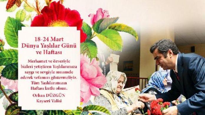 Vali Düzgün: Yaşlılar toplum ve aile hayatının en kıymetli hazineleri