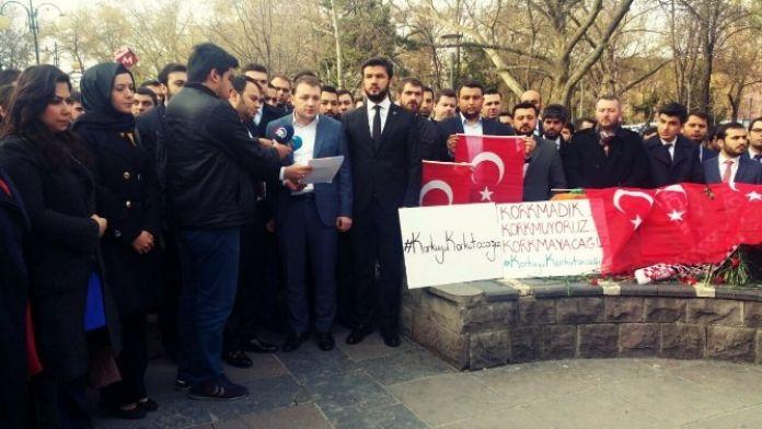 AK Parti Gençliği Teröre Karşı Omuz Omuza