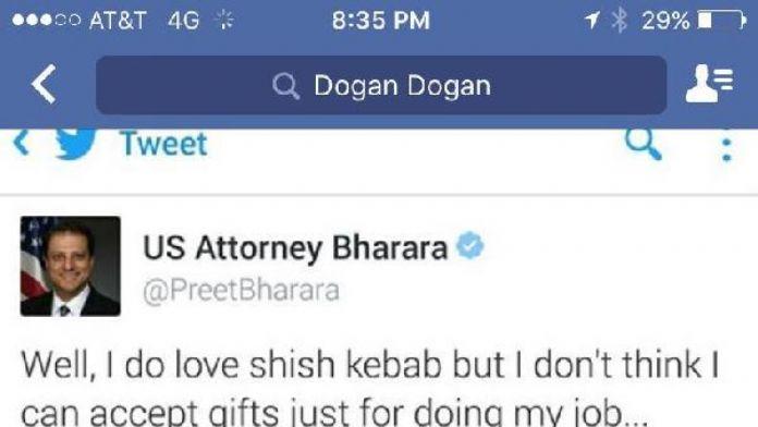 Reza Zarrab'ı tutuklatan Savcı Pret Bharara, mesaj yağmuruna tutuldu