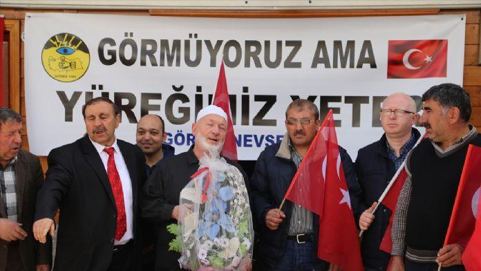 Nevşehir'de engellilerden teröre tepki
