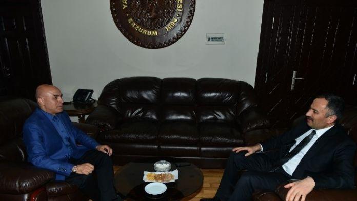 Adalet Akademi Başkanı Akçil'den Korkut'a Ziyaret