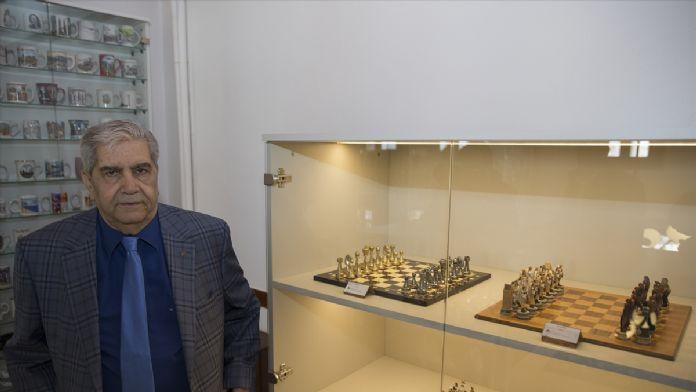 Guinness'teki satranç koleksiyonu Ankara'da