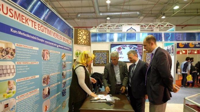 BUSMEK Geleneksel Türk Sanatlarını Fuarda Tanıttı