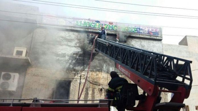 Nusaybin'de İş Yeri Deposunda Yangın