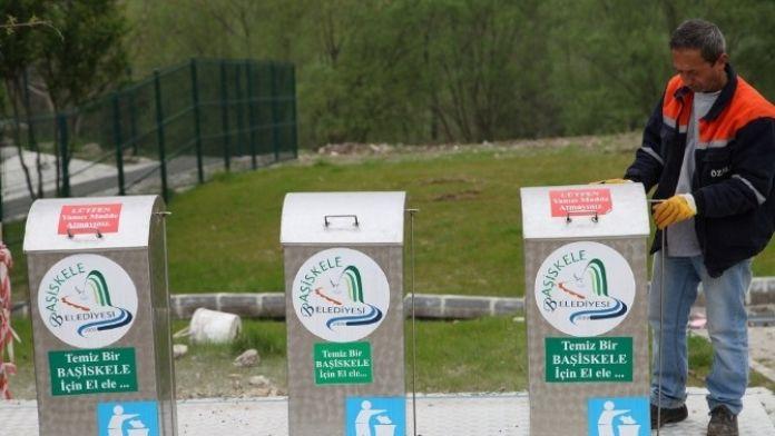 Eğitim Alanlarına Yer Altı Çöp Konteyneri