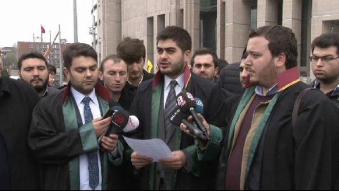 Adliye önünde 'KPSS mağdurları'na destek açıklaması