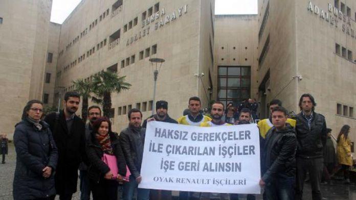 Oyak Renault'ta işten çıkarılan 14 işçi mahkemeye başvurdu