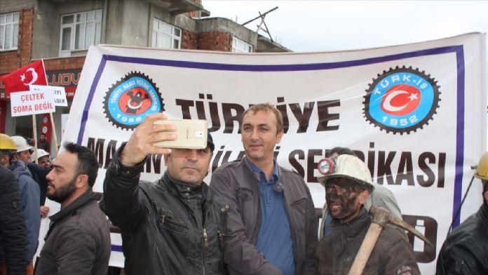 Amasya'da maden işçilerinin protestosu