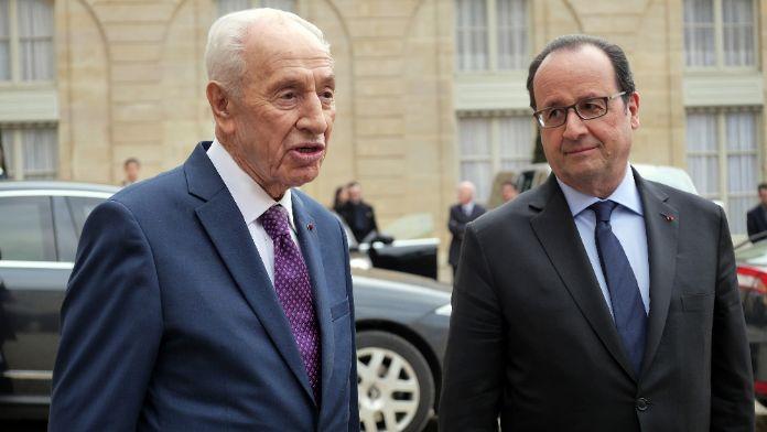 Hollande, Peres'le görüştü