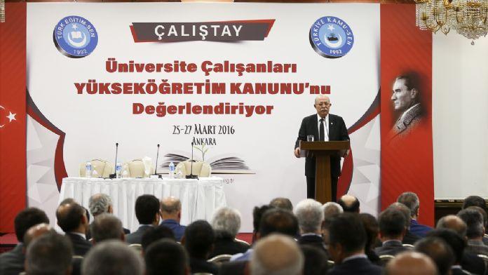 'Üniversite Çalışanları Yükseköğretim Kanunu'nu Değerlendi