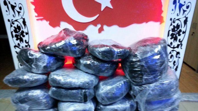 Şanlıurfa'da 117 kilo uyuşturucu ele geçirildi